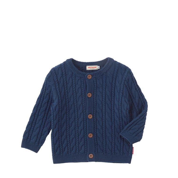 6c1e08b002ce3d アクリルウールで温かく丈夫なつくりになっていて、秋冬にピッタリのカーディガンです。前開きで羽織りやすいのもポイントです。  紺・赤・グレーの3色展開で、女の子も ...